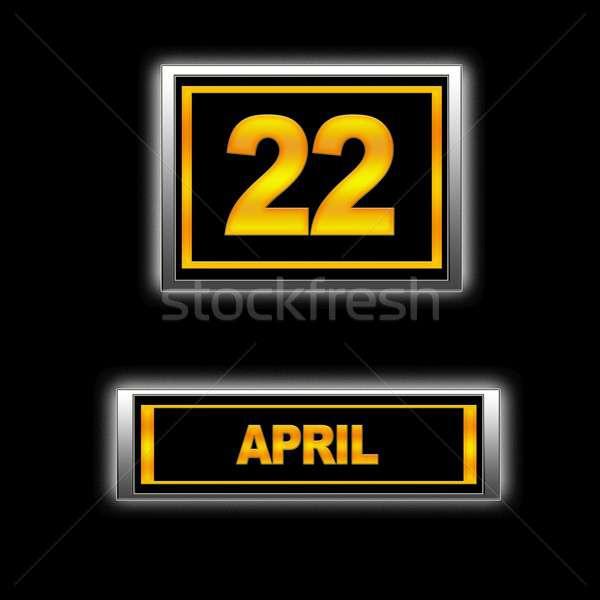 22 ilustracja kalendarza edukacji czarny porządku Zdjęcia stock © asturianu