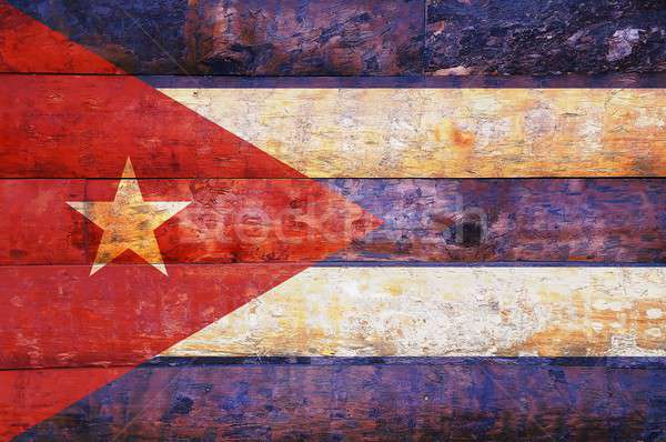 Cuba flag in old wooden. Stock photo © asturianu