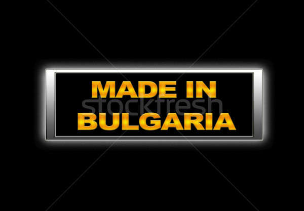 Bulgarie signe affaires design Finance Photo stock © asturianu