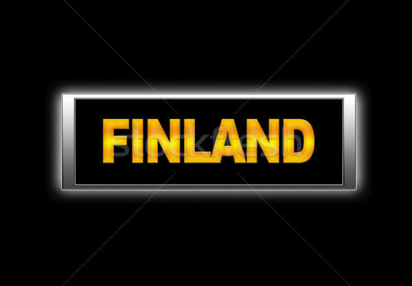Finlandia iluminado signo fondo viaje vacaciones Foto stock © asturianu