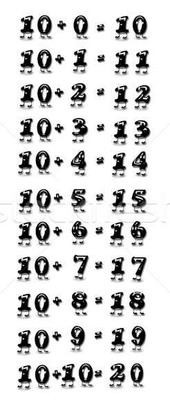 Addition table, ten. Stock photo © asturianu
