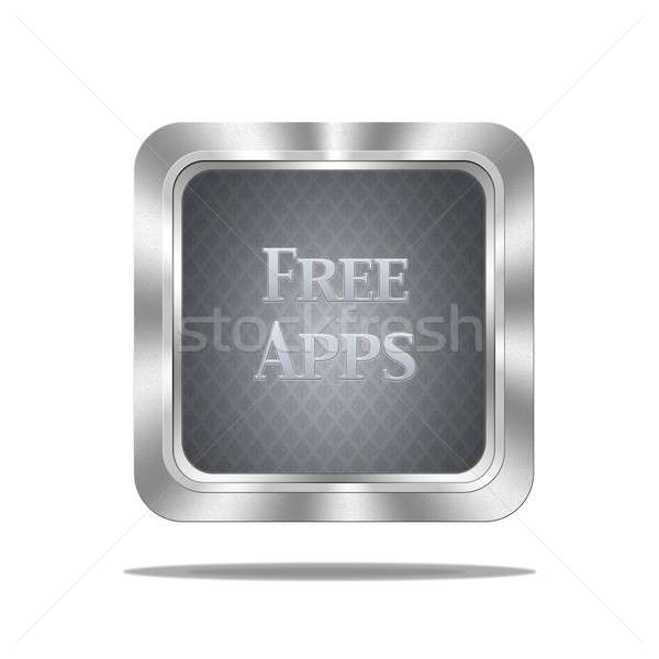 Free apps button. Stock photo © asturianu