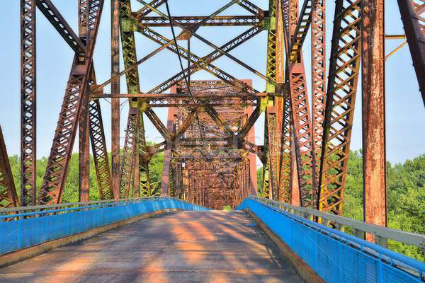 Chain of Rocks bridge on the Mississippi river. Stock photo © asturianu
