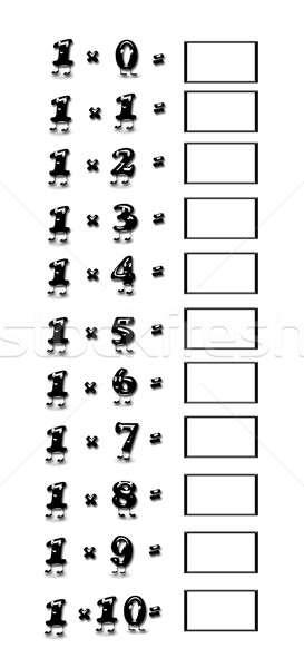 Multiplicación mesa ilustración escuela aprendizaje Cartoon Foto stock © asturianu