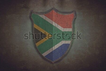 Shield with Jamaica flag. Stock photo © asturianu