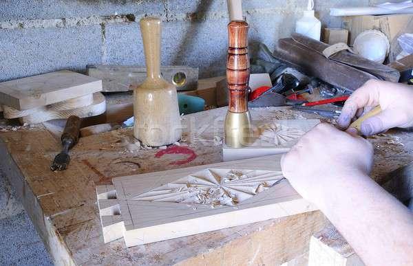 Wood carving tools. Stock photo © asturianu