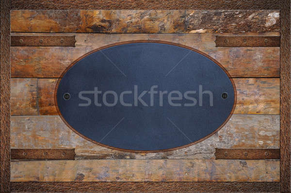 Boletim conselho madeira lousa fundo espaço Foto stock © asturianu