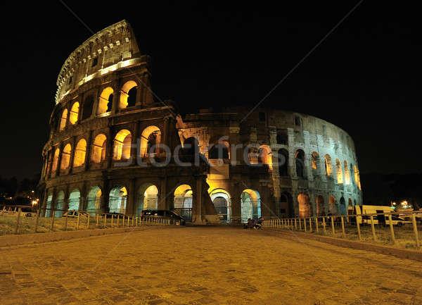 Amphitheatre by night, Rome. Stock photo © asturianu