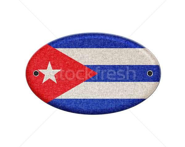 Куба иллюстрация дизайна Vintage шаблон Сток-фото © asturianu