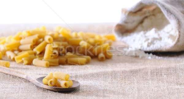 Makaróni kanál konyhaasztal étterem főzés szakács Stock fotó © asturianu