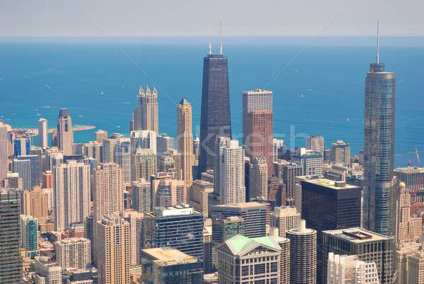 Chicago Skyline from above. Stock photo © asturianu