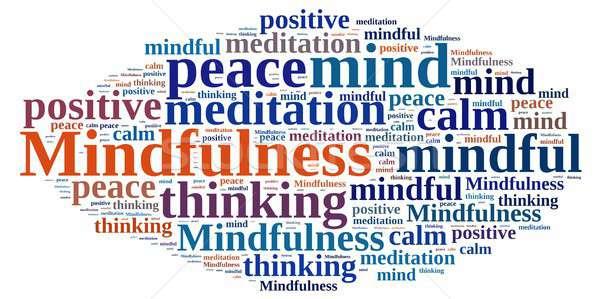 Mindfulness concept illustration with word. Stock photo © asturianu