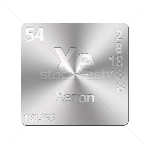 Xênon isolado metal botão educação Foto stock © asturianu