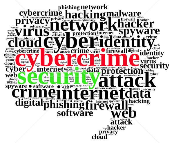 Kelime bulutu örnek bilgisayar güvenlik bulut Stok fotoğraf © asturianu