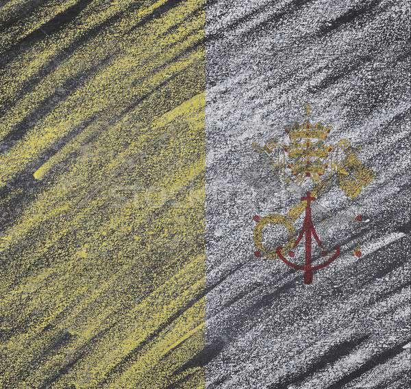 Vaticano lavagna bandiera verniciato gesso design Foto d'archivio © asturianu