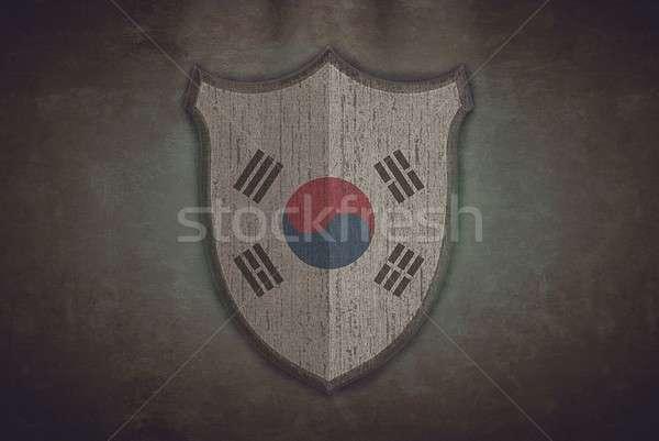 Shield with South Korea flag. Stock photo © asturianu