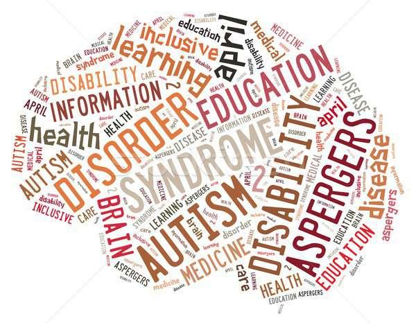 аутизм иллюстрация слово облако болезнь ребенка фон Сток-фото © asturianu