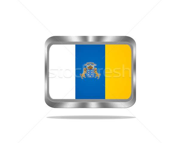 Metal Canarias flag. Stock photo © asturianu