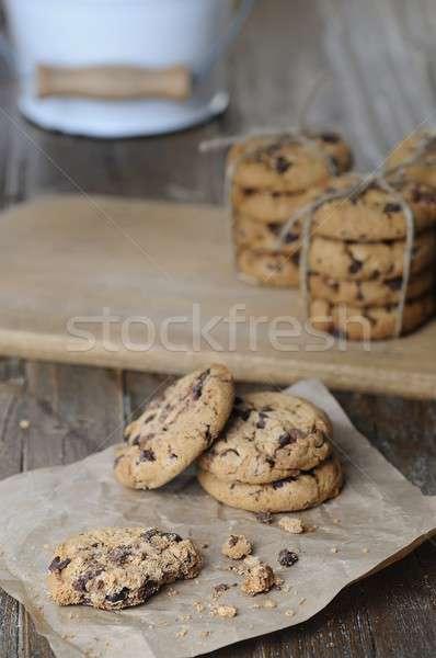 Delicious chocolate chip cookies Stock photo © asturianu