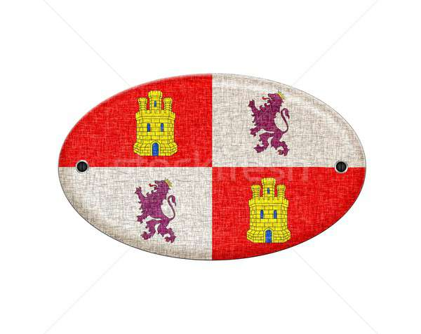 Wooden Castilla Leon flag. Stock photo © asturianu