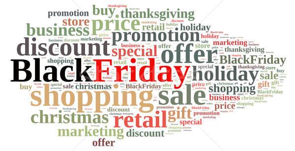 Black friday ilustração nuvem da palavra negócio compras nuvem Foto stock © asturianu