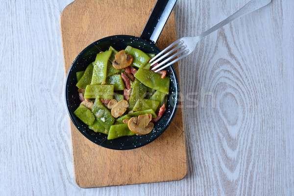 Food in frying pan Stock photo © asturianu