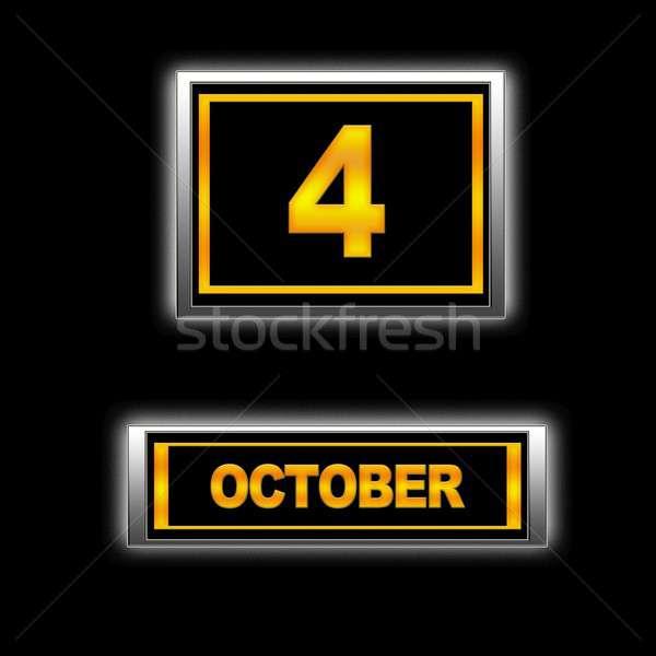 October 4. Stock photo © asturianu