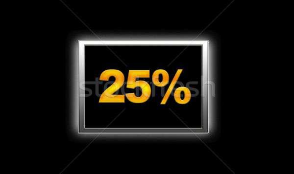 25 descuento ilustración iluminado signo fondo Foto stock © asturianu