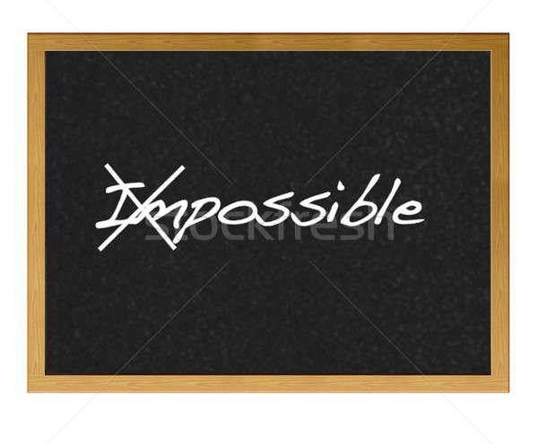 Onmogelijk geïsoleerd Blackboard helpen dienst succes Stockfoto © asturianu