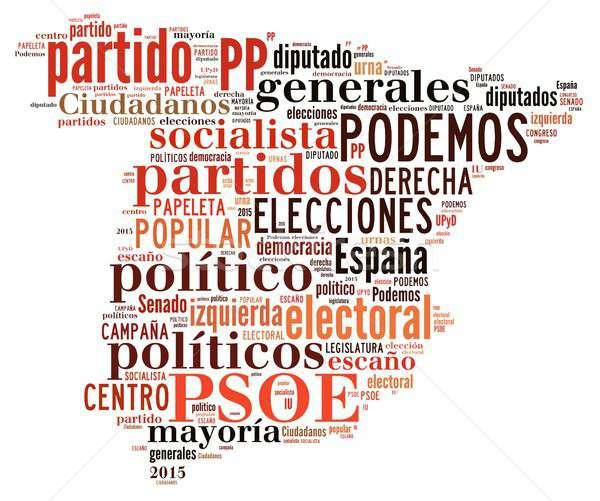 Hiszpania wybory 2015 ilustracja słowa Chmura Zdjęcia stock © asturianu