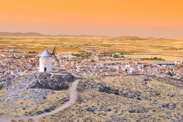 Windmill in Consuegra, Spain. Stock photo © asturianu