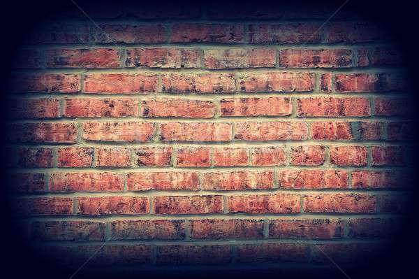 старые красный кирпичная стена текстуры фон каменные Сток-фото © asturianu