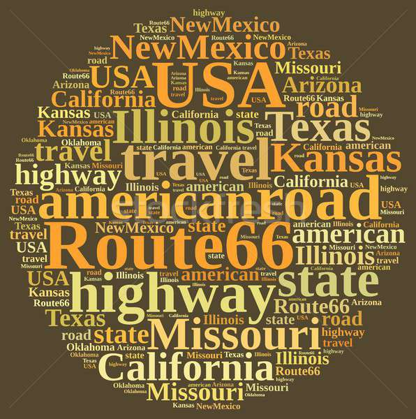 Word cloud on Route 66. Stock photo © asturianu