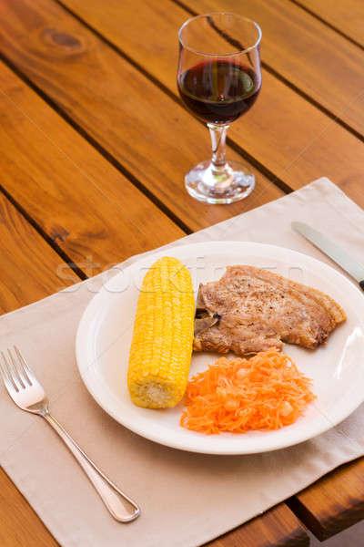 光 ランチ 務め 赤ワイン 食品 レストラン ストックフォト © avdveen