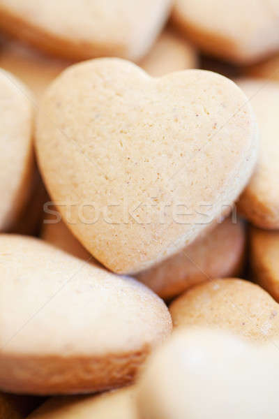 Freshly baked shortbread heart shaped biscuits Stock photo © avdveen