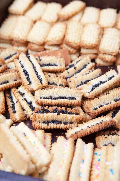 Vers gebakken cookies koeling af omhoog Stockfoto © avdveen