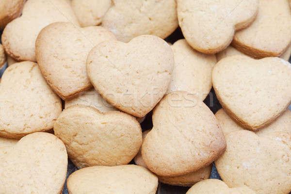 Taze kurabiye kalp gıda Stok fotoğraf © avdveen