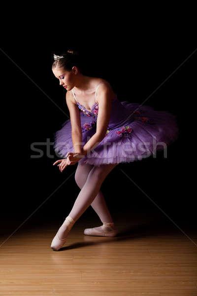 Güzel genç balerin kafkas Stok fotoğraf © avdveen