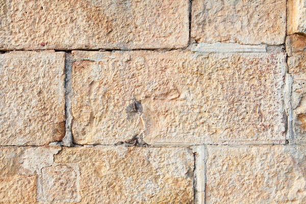 стены прямоугольный песчаник кирпича старые строительство Сток-фото © avdveen
