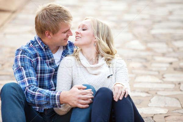 Zaman birlikte çift sevmek Stok fotoğraf © avdveen