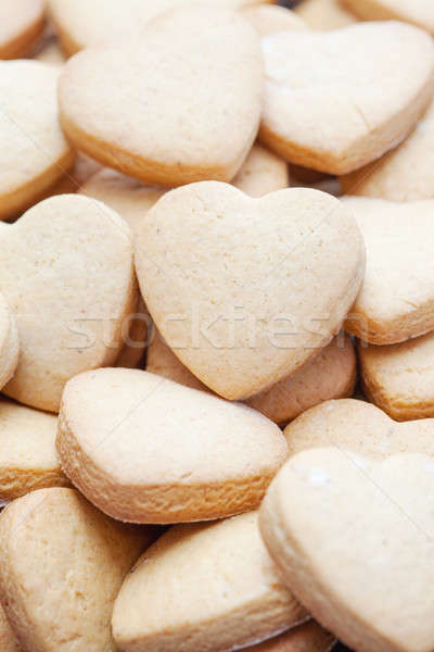 Valentine themed heart shaped shortbread cookies Stock photo © avdveen