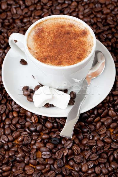 カップ コーヒー 豆 新鮮な 食品 ドリンク ストックフォト © avdveen