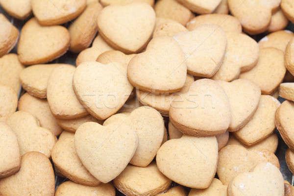 Veel heerlijk hart cookies hoop Stockfoto © avdveen
