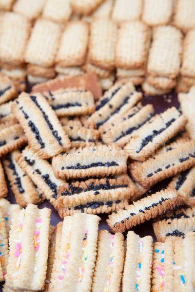 Vers gebakken vanille cookies koeling af Stockfoto © avdveen