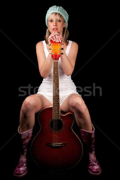 Müzisyen gitar çekici Stok fotoğraf © avdveen