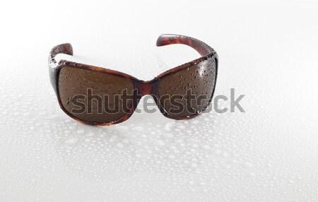 Nat zonnebril geïsoleerd witte Stockfoto © AvHeertum