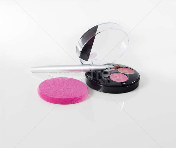 Make lippenstift geïsoleerd witte Stockfoto © AvHeertum