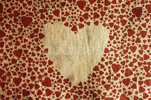 Vintage hart oud papier textuur harten papier Stockfoto © Avlntn