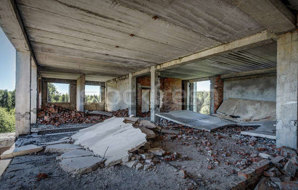 старые заброшенный здании интерьер строительство Сток-фото © Avlntn