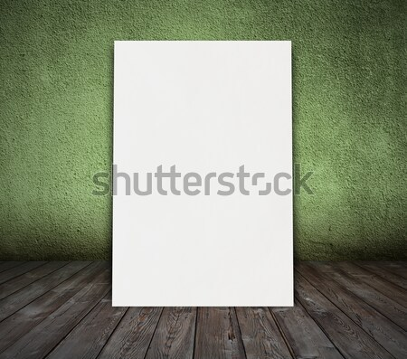 old green room with concrete wall Stock photo © Avlntn
